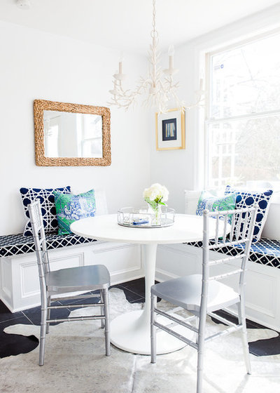 Transitional Dining Room by Diff Miller Style & Design