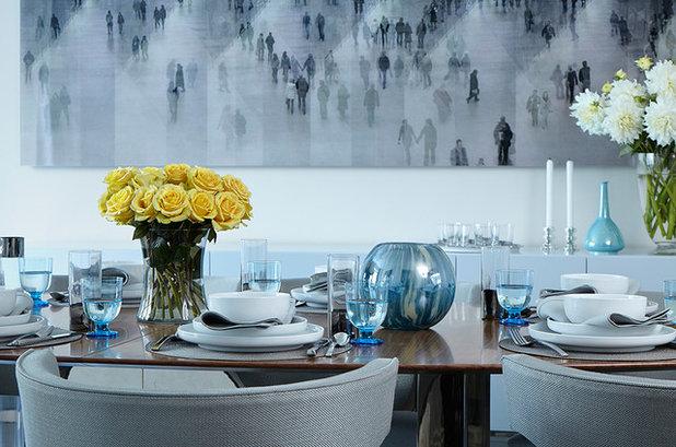 Contemporary Dining Room by Robert Kaner Interior Design