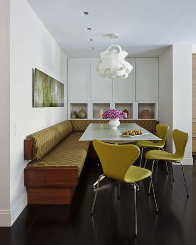 Contemporary Dining Room by Robert Kaner Interior Design