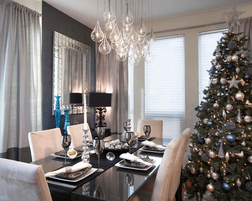 Trendy Dining Room Photo In Toronto With Gray Walls Part 62