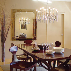 Contemporary Dining Room by kathleen monroe design