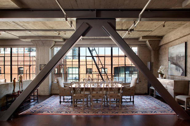 Industrial Dining Room by CCS ARCHITECTURE