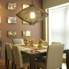 Eclectic Dining Room by LOCZIdesign