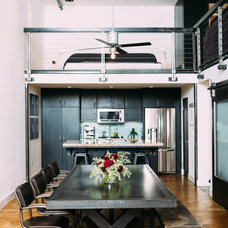 Industrial Dining Room by Daphne Steinberg Interior Design