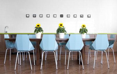 Decoración: Interiores facetados que simulan la angulosidad del origami