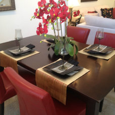 Contemporary Dining Room by Staged Right