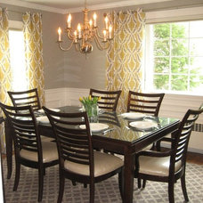 Contemporary Dining Room by Laurie DiGiacomo Interiors