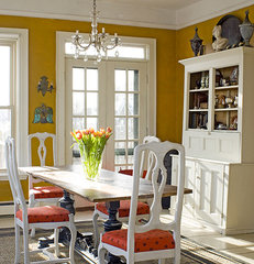 eclectic dining room by James R. Salomon Photography