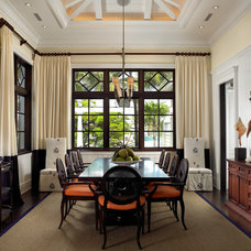 Eclectic Dining Room by Pinto Designs and Associates