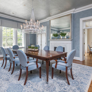Inspiration For A Timeless Dark Wood Floor And Brown Floor Dining Room  Remodel In Baltimore With