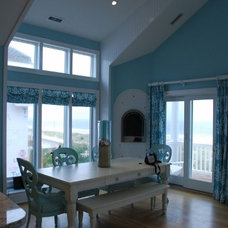 Beach Style Dining Room by Toback Builders