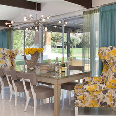 Midcentury Dining Room by Joel Dessaules Design