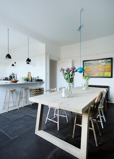 Scandinave Salle à Manger by Brown + Brown Architects