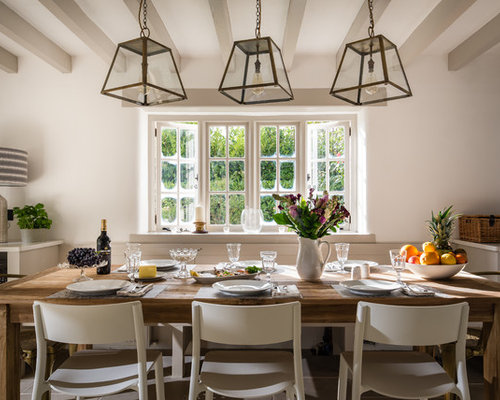 country dining room pictures. this is an example of a farmhouse kitchen/dining room in devon with white walls country dining pictures