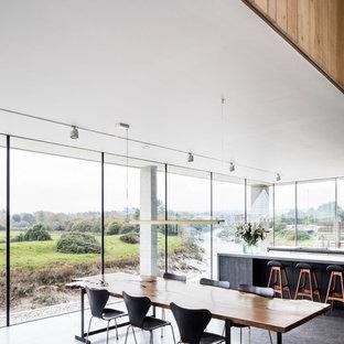 Modern dining room in London.
