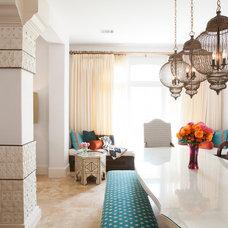 Mediterranean Dining Room by Laura U, Inc.