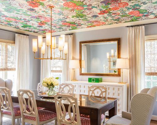 Lilac Walls Dining Room Design Ideas, Renovations & Photos