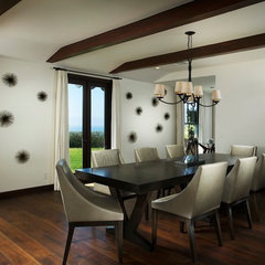 contemporary dining room by Michael Kelley Photography