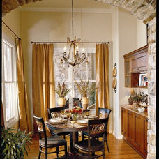 Tropical Dining Room by Authentic Pine Floors, Inc.