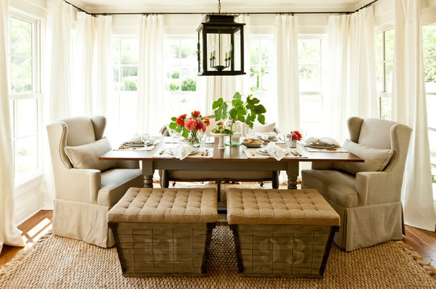 Country Dining Room by John Bynum Custom Homes, Inc.