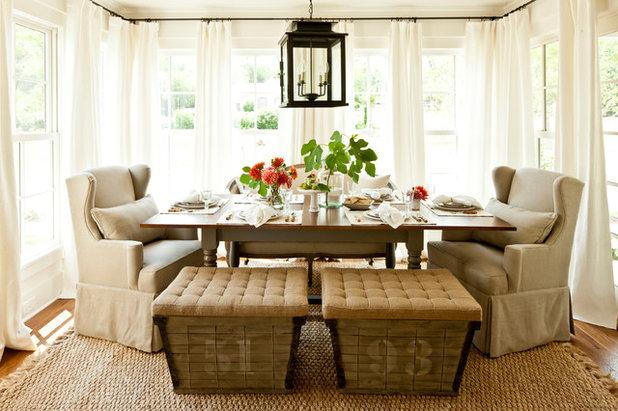 Farmhouse Dining Room by John Bynum Custom Homes, Inc.