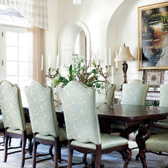 traditional dining room by JAUREGUI Architecture Interiors Construction