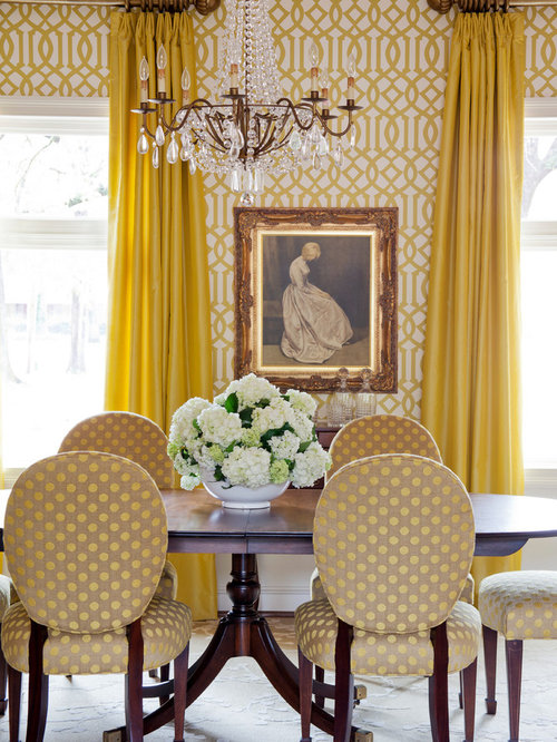 Houzz yellow dining room design ideas remodel pictures for Yellow dining room ideas