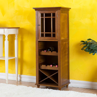 Southwestern Stlye Dining Room with Wine Cabinet