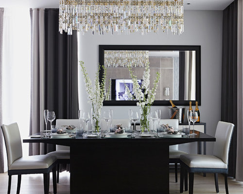 Dining room mirrors houzz for Mirror ideas for dining room