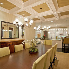 Contemporary Dining Room by Architect Mark D. Lyon, Inc.
