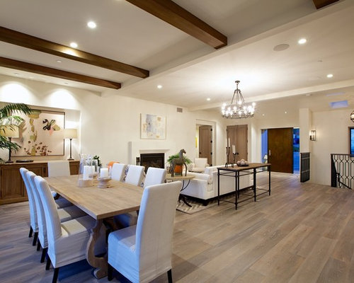 Inspiration For A Large Contemporary Dark Wood Floor And Brown Great Room Remodel In San