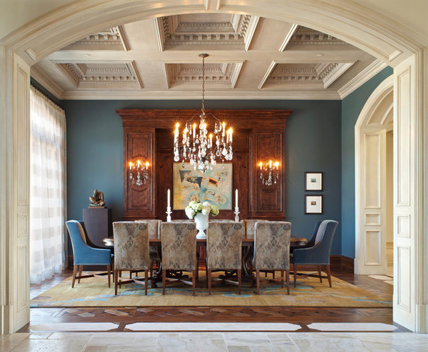Mediterranean Dining Room by anderson woodworks inc