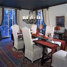 Mediterranean Dining Room by RA Design Group, LLC