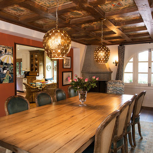 Example of a tuscan dining room design in Los Angeles