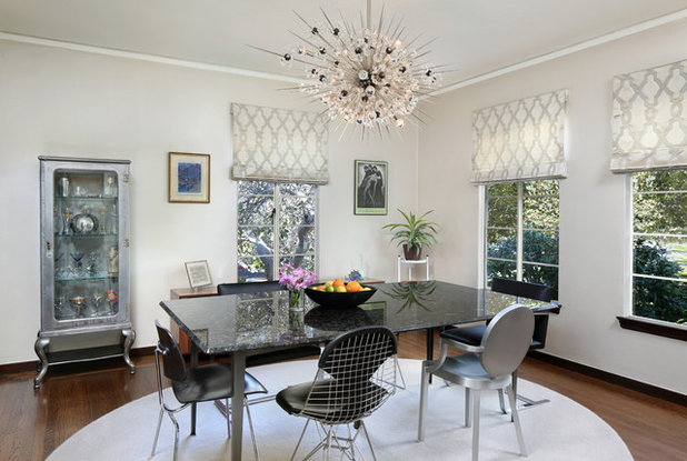 Midcentury Dining Room by Melinamade Interiors