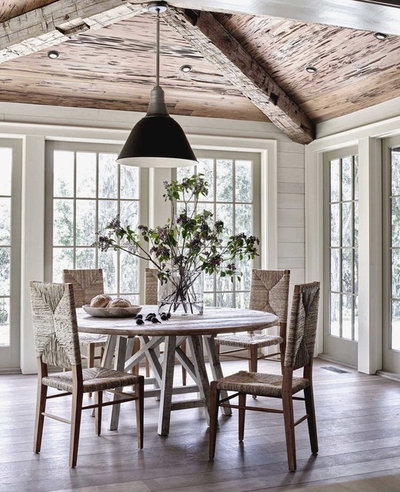Beach Style Dining Room by Jeffrey Dungan Architects
