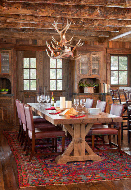 Rustic Dining Room by Lohss Construction