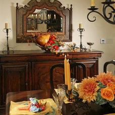 Mediterranean Dining Room by Cynthia Bennett & Associates
