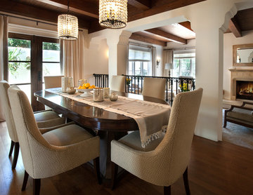 Spanish White Mediterranean Dining Room