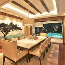 Contemporary Dining Room by Genoveve Serge Interior Design, CID # 6795