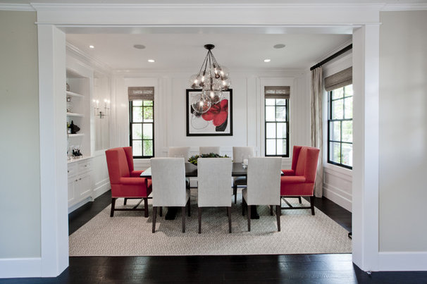 Transitional Dining Room by Spinnaker Development