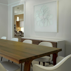 modern dining room by Upscale Construction