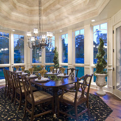 traditional dining room by Schrader & Companies