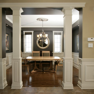 Square Half Recessed Panelled Column, Paint Grade Wood