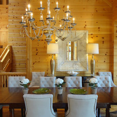 Rustic Dining Room by HW Home