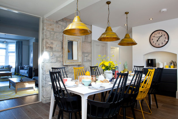 Beach Style Dining Room by Camellia Interiors Ltd