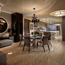 Contemporary Dining Room by Interiors by Steven G