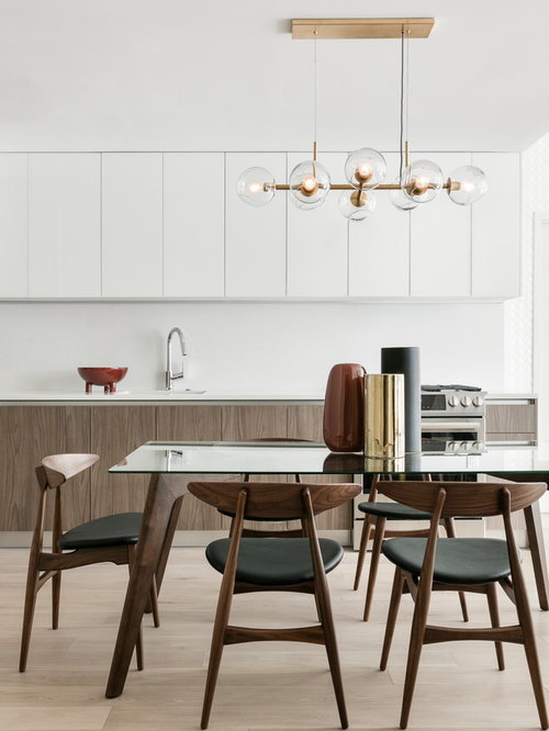 Kitchen Dining Room Ideas Photos Part - 49: Example Of A Mid-sized 1950s Light Wood Floor And Beige Floor Kitchen/dining.  Save Photo. The New Design Project