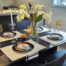 Contemporary Dining Room by KaBé Home Staging