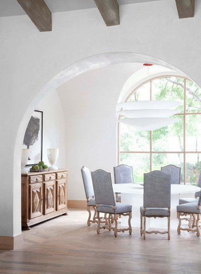 Mediterranean Dining Room by Ryan Street & Associates